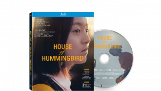 Jihu Park stares into the distance as Eunhee from HOUSE OF HUMMINGBIRD, official disc art