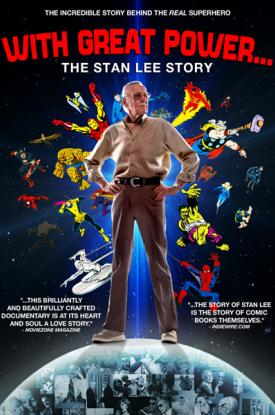 Official poster art for the documentary biography With Great Power: The Stan Lee Story