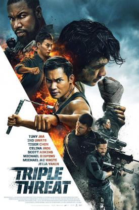 TRIPLE THREAT (2019) Official Poster distributed by Well Go USA