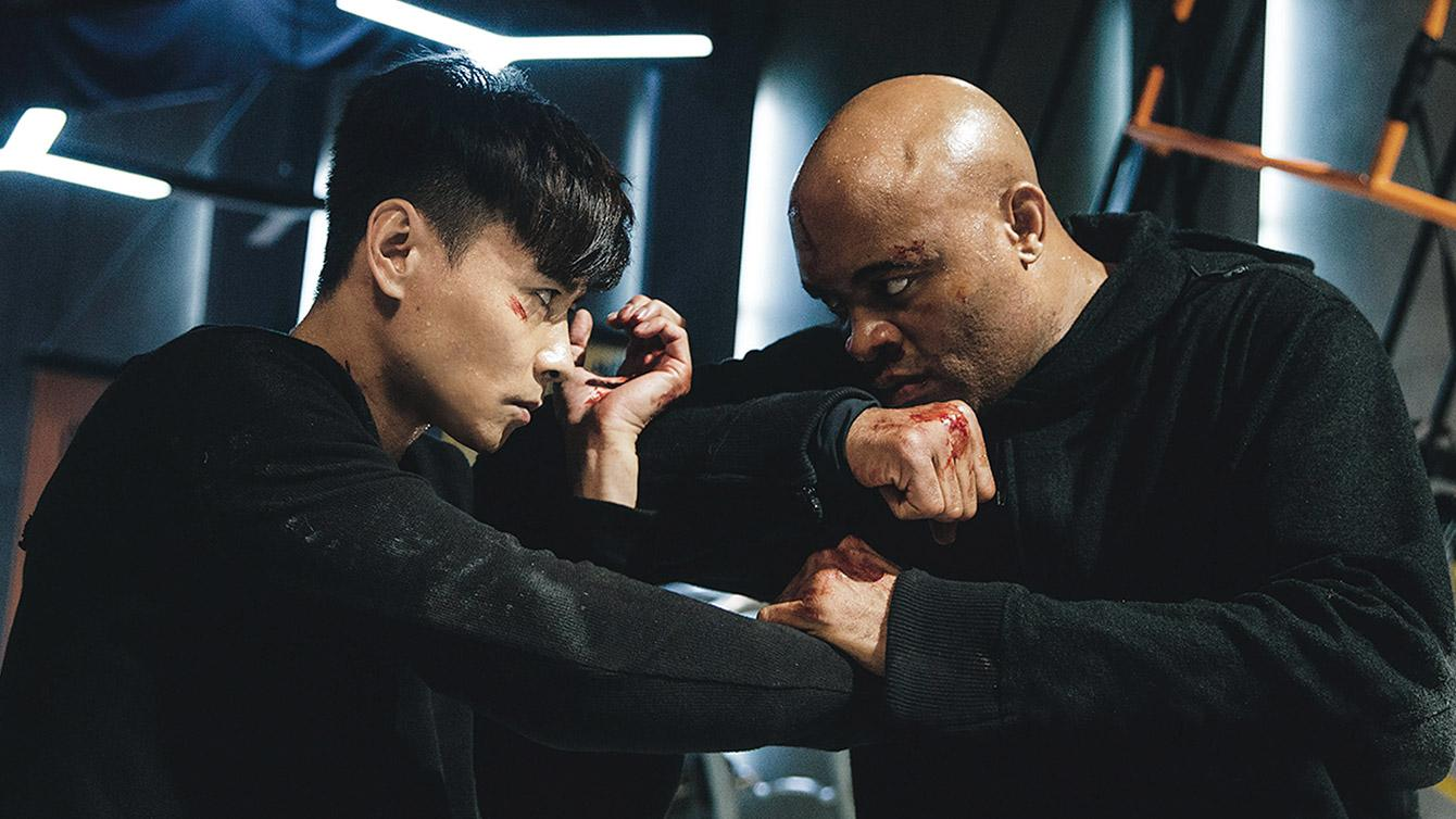 Max Zhang and Anderson Silva locked in combat in INVINCIBLE DRAGON from Well Go USA