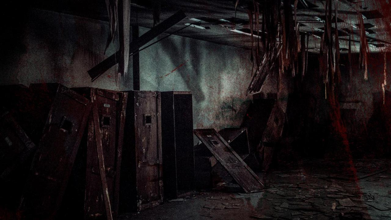 Abandoned lockers in an abandoned haunted building