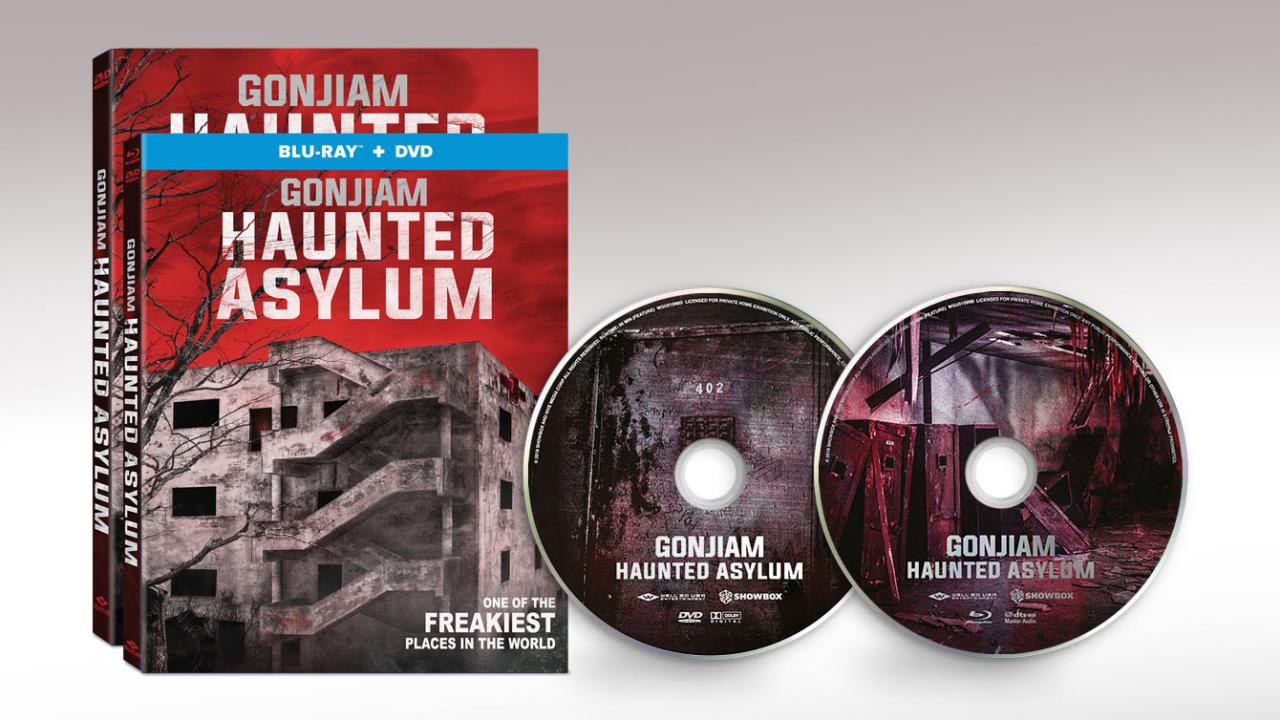 Gonjiam: Haunted Asylum (2018) movie packshots and discs