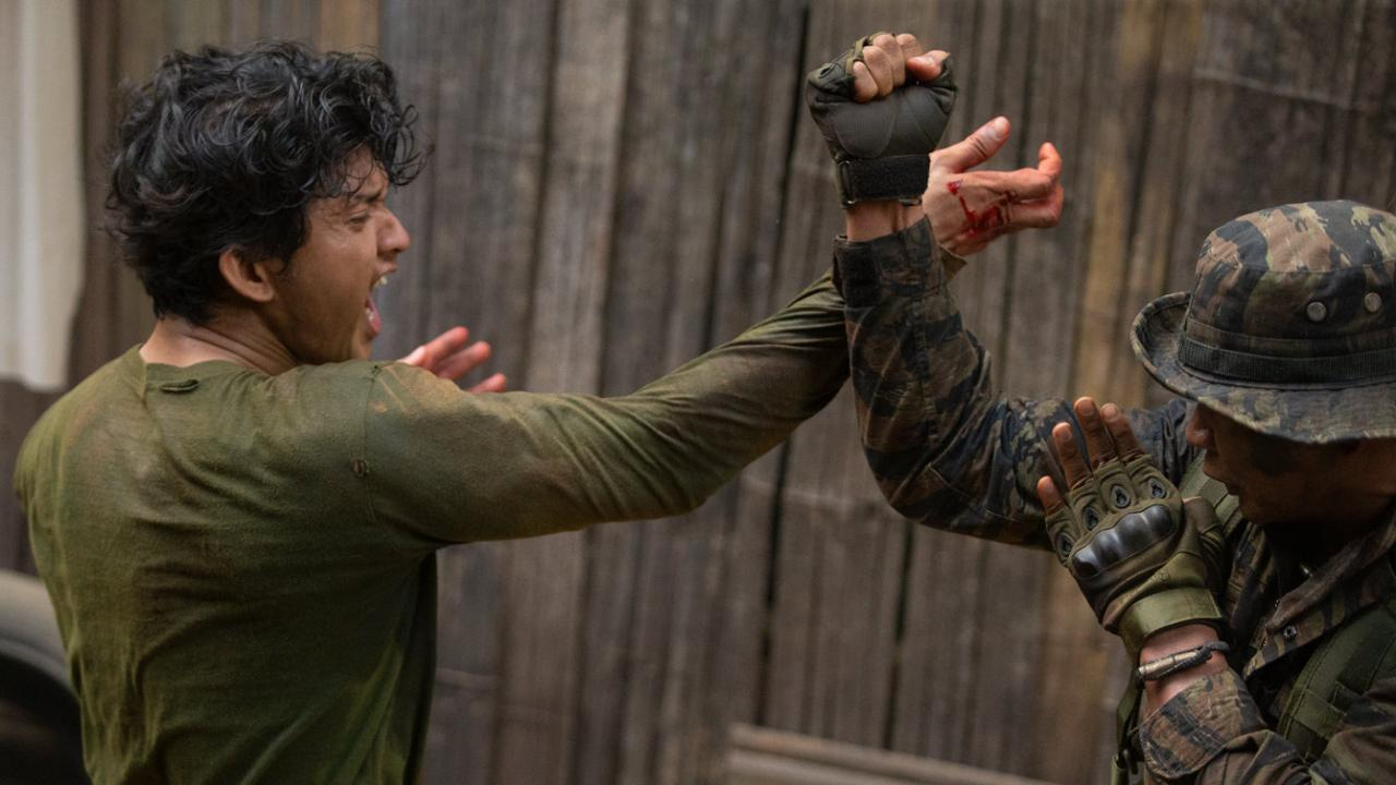 Fist fighting action sequence