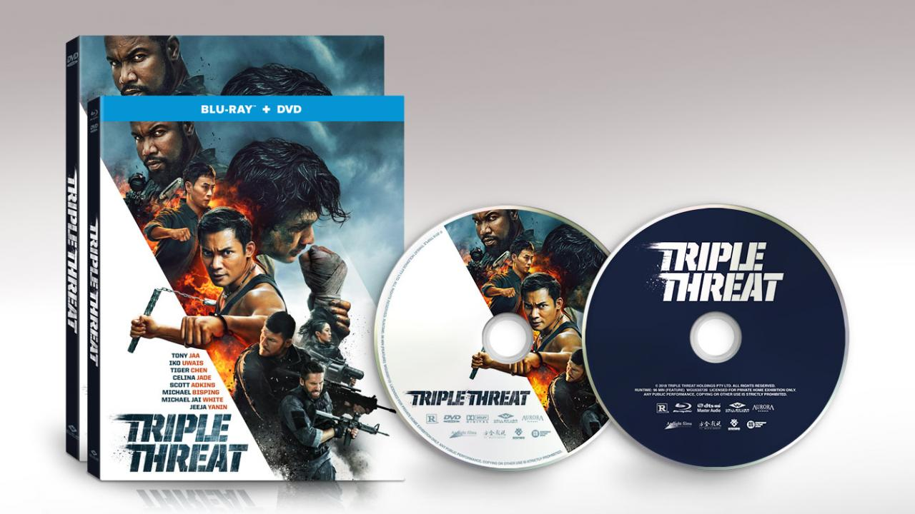 TRIPLE THREAT (2019) available on DVD & Blu-ray
