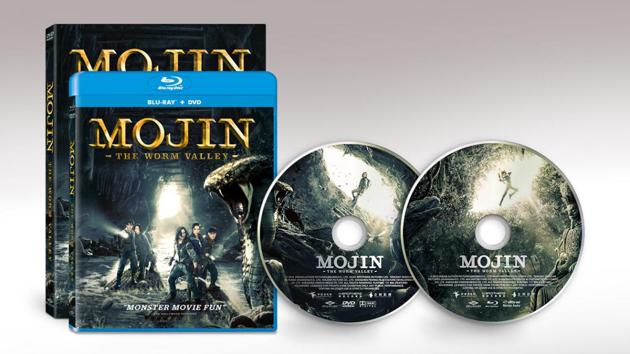 MOJIN: THE WORM VALLEY (2019) official movie Packshots and Discs