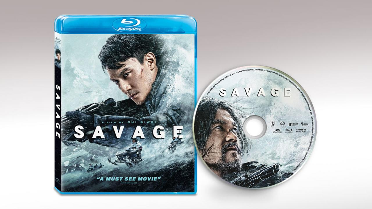 Well Go USA Savage Movie Packshot and Disc