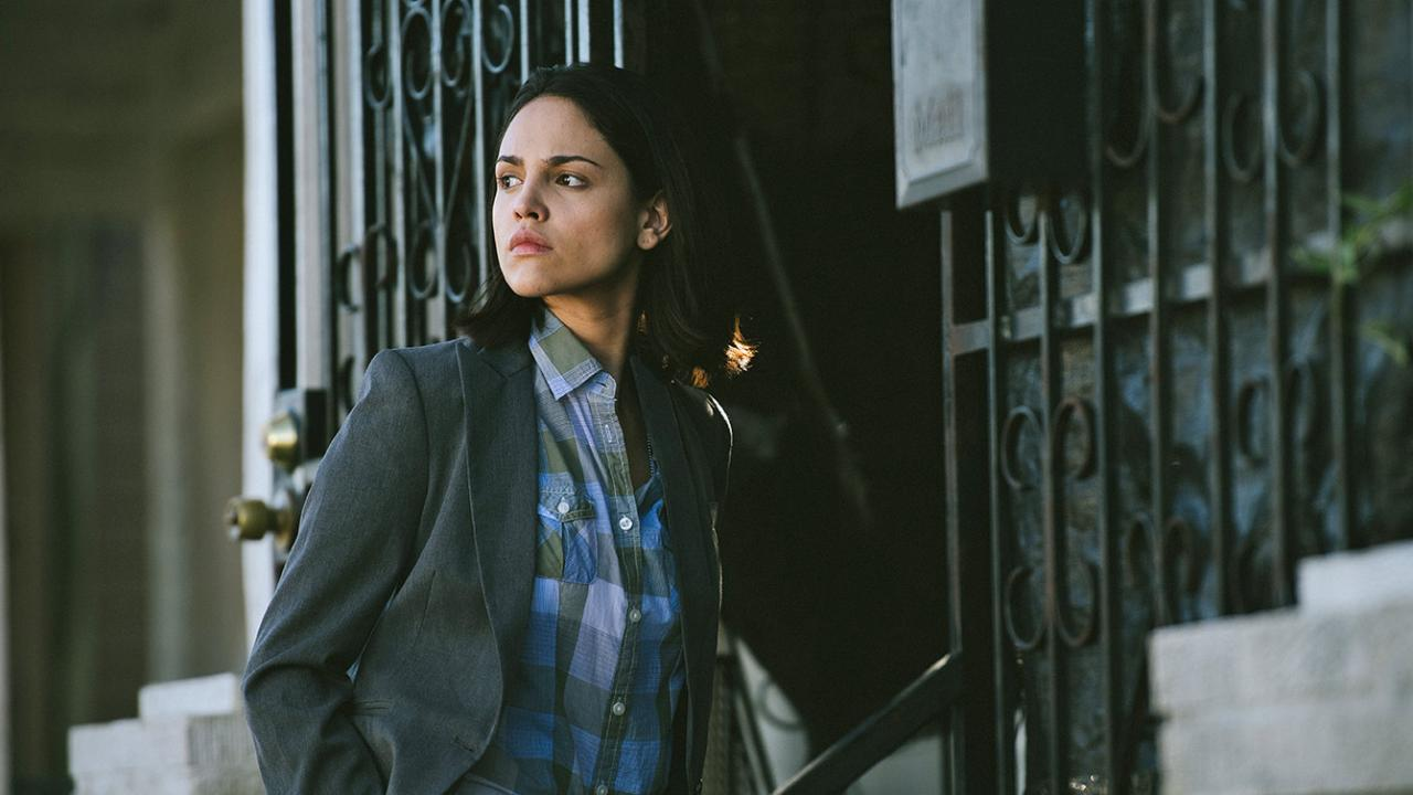 "Eiza Gonzalez as ""Detective Valencia"" in Cut Throat City."