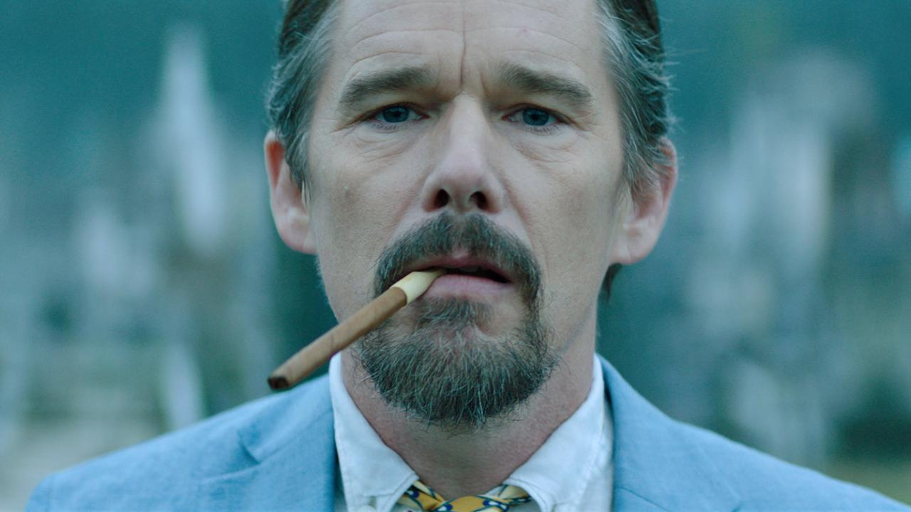"Ethan Hawke as ""Councilman Symms"" in Cut Throat City."