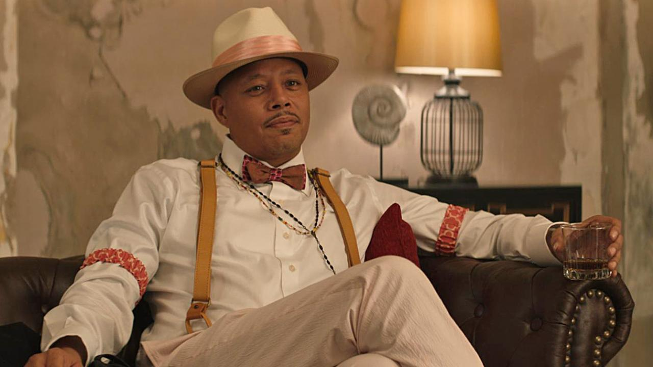 "Terrance Howard wears a hat as ""The Saint"" in Cut Throat City."