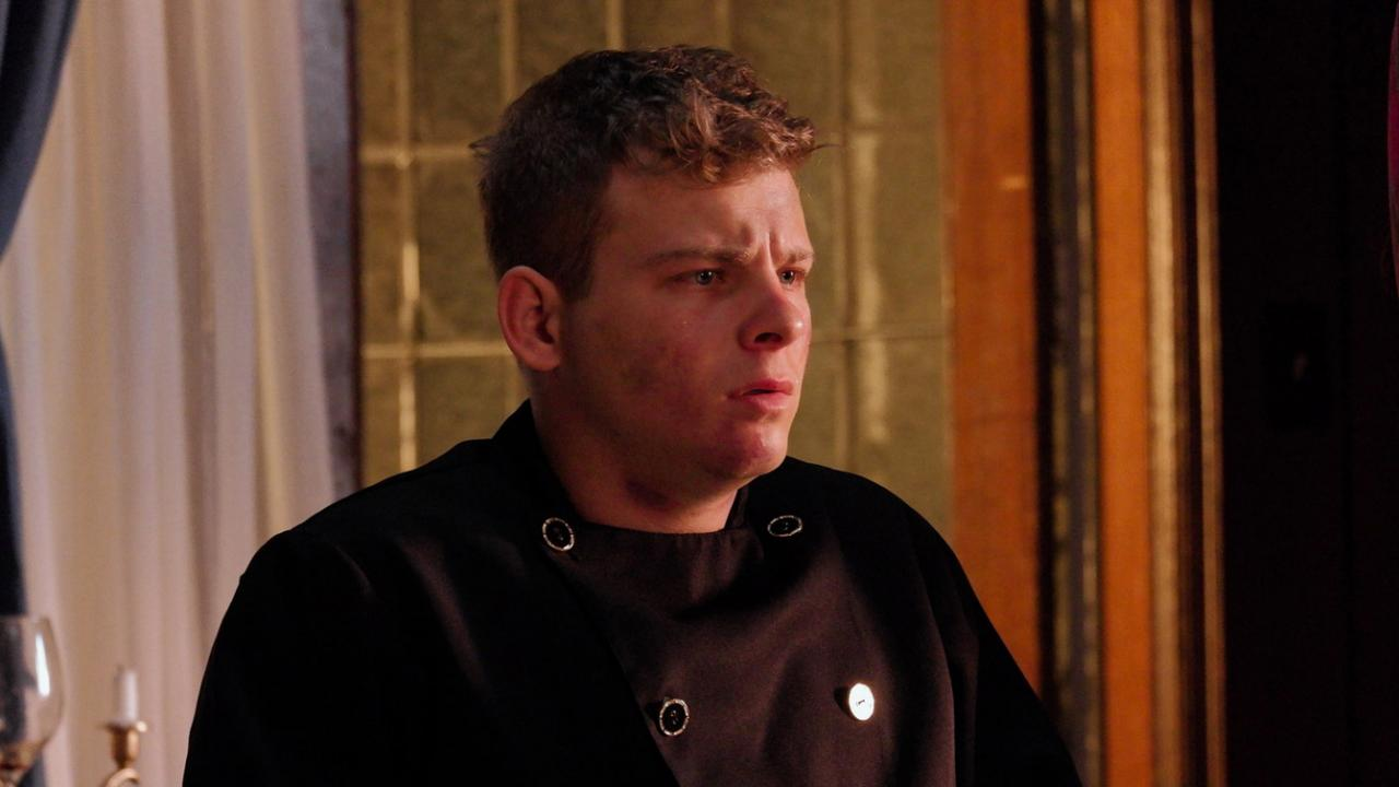 Jonathan Lipnicki as the murderous chef in BROIL by Well Go USA