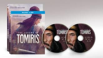 Official box and disc art for THE LEGEND OF TOMIRIS from Well Go USA