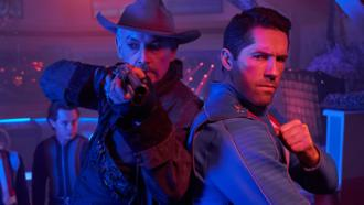 Scott Adkins and Tommy Flanagan preparing to fight villains in MAX CLOUD by Well Go USA