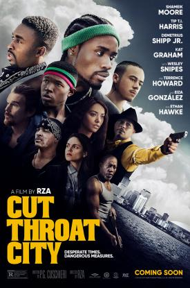 CUT THROAT CITY official Poster released by independent film distributor, Well Go USA