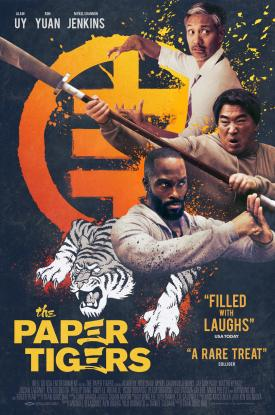 THE PAPER TIGERS martial arts action-comedy official poster featuring Alain Uy, Ron Yuan, and Mykel Shannon Jenkins