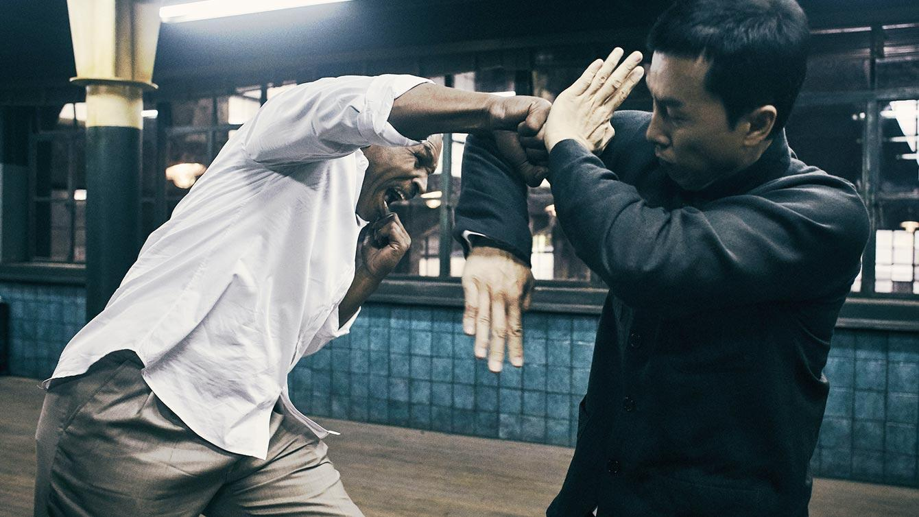 Mike Tyson and Donnie Yen spar off in flying fists and punches in the Ip Man Franchise