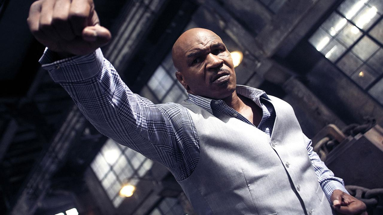 Mike Tyson throws punches at Donnie Yen in martial arts film Ip Man 3