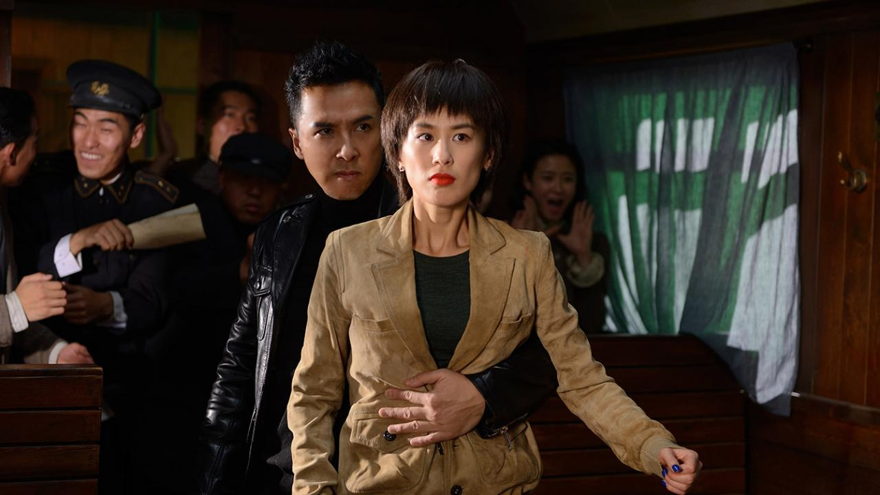 Donnie Yen protects woman in fist fight