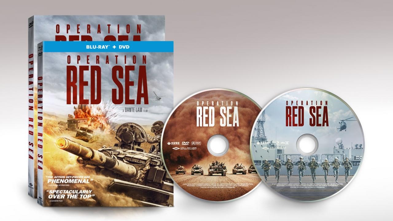 Operation Red Sea Action Film Packshots and Discs