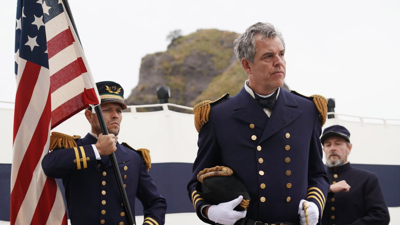 Danny Huston stars as Commodore Perry in Samurai Marathon 1855 directed by Bernard Rose