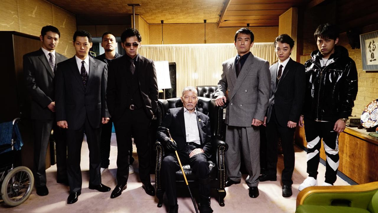 A gang of yakuza Japanese men
