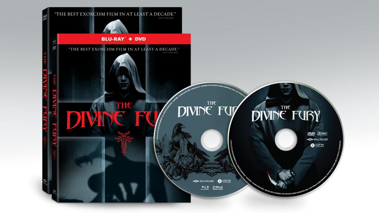 Pre-order THE DIVINE FURY, available on BluRay and DVD packshots