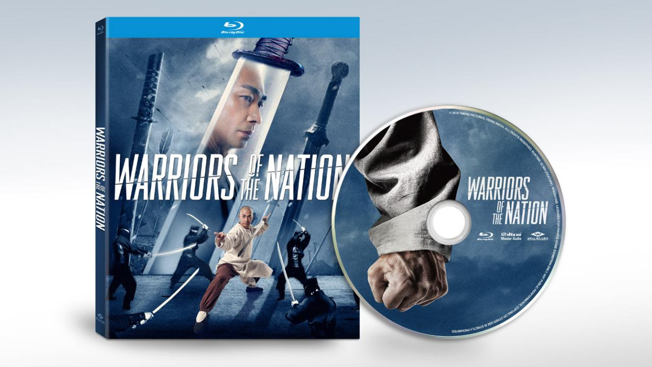 Well Go USA Action Movie Warriors of the Nation (2019) blu-ray packshot disc