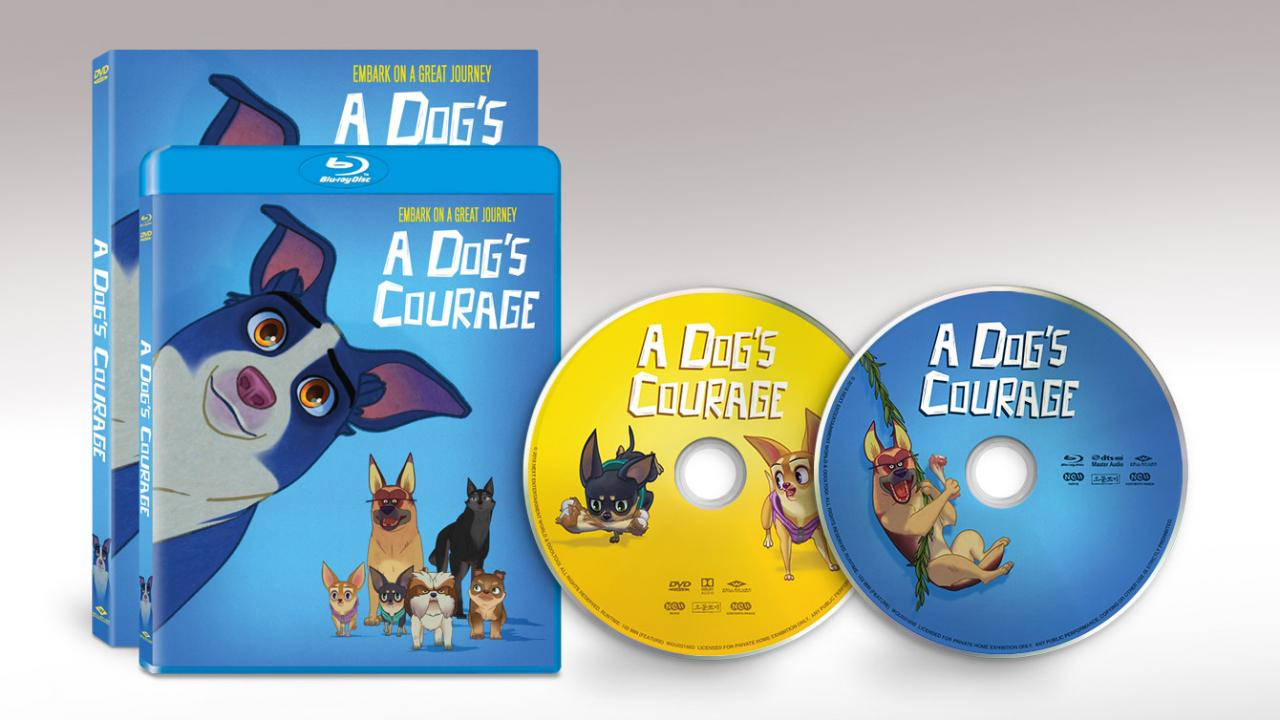 A DOG'S COURAGE packshots and disc art from Well Go USA