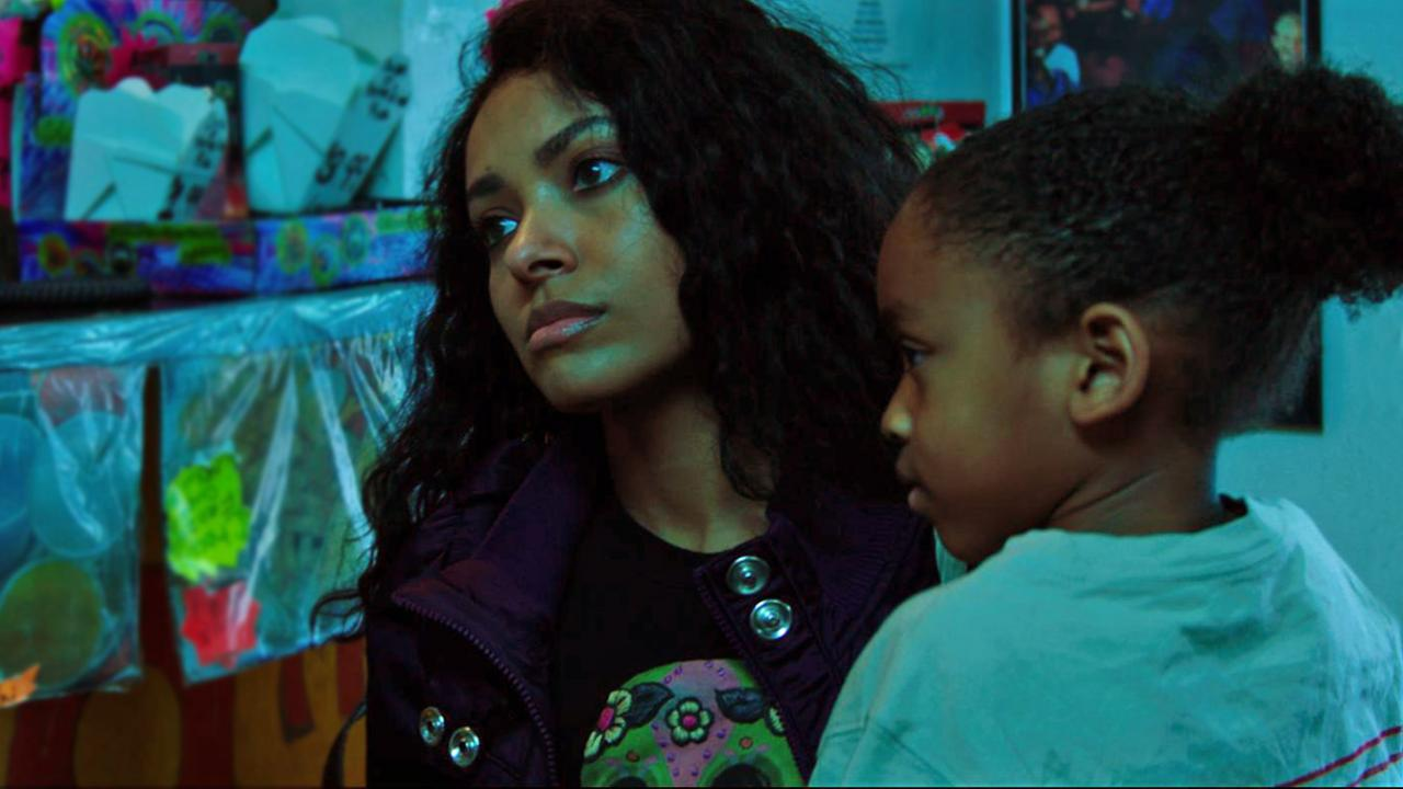 "Kat Graham in a laundry Mat as ""Demyra"" in Cut Throat City."