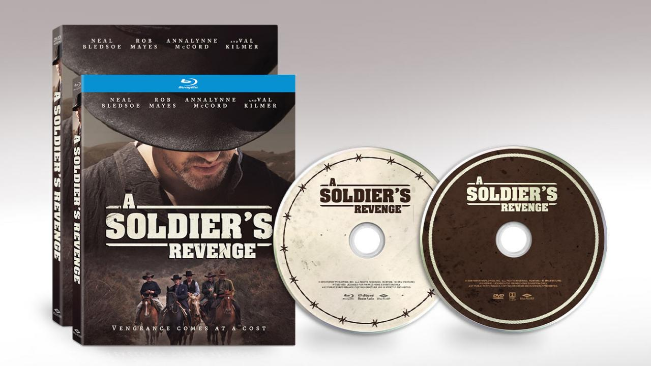 Western drama A SOLDIER'S REVENGE is available on Blu-ray and DVD.