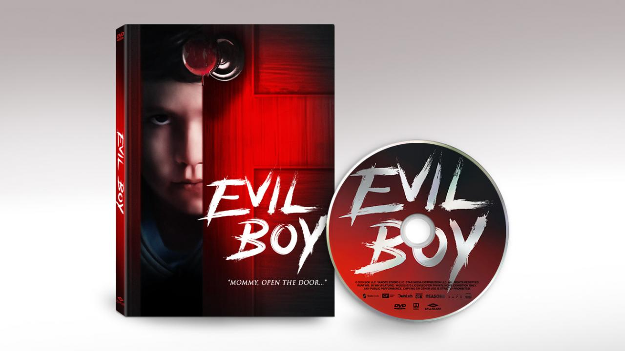The official packshots and disc art for EVIL BOY from Well Go USA