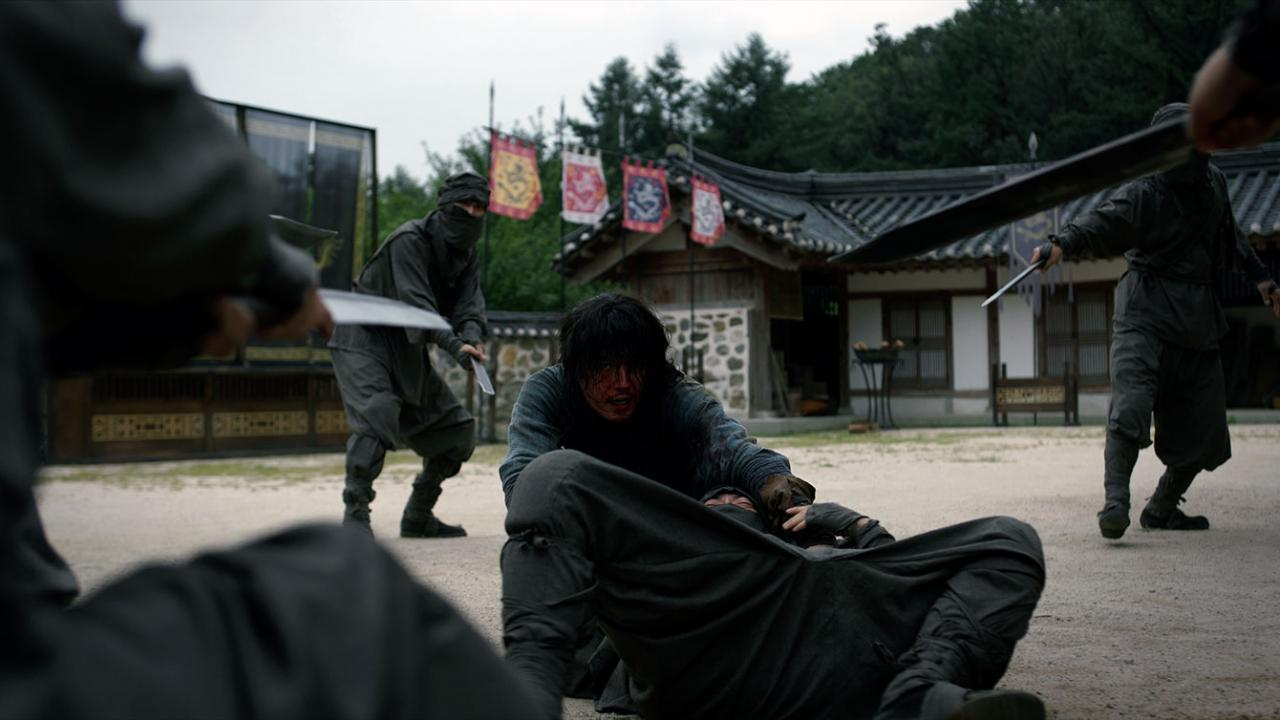 Joseon's greatest swordsman fights in a villiage in THE SWORDSMAN Korean martial arts film from Well Go USA