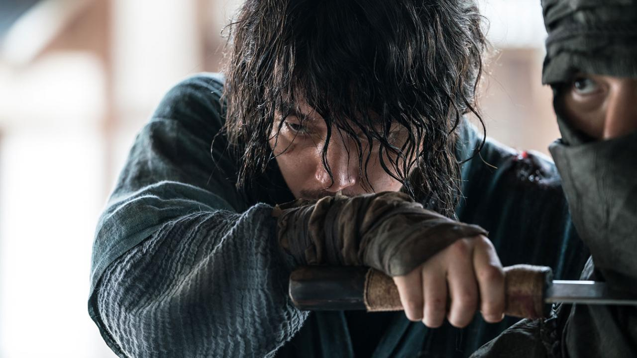 Jang Hyuk as a blind master swordsman in THE SWORDSMAN Korean martial arts film from Well Go USA